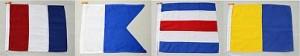 Signalflaggor för TACK - Klicka och läs namnen på sponsorerna.