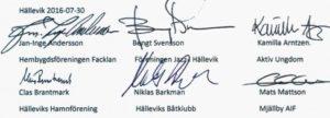 Skrivelse om hastighetsgränser i Hällevik.