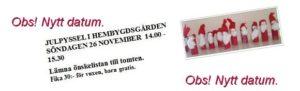 Julpyssel i Hembygdsgården söndagen den 26 november kl 14.00 – 15.30.